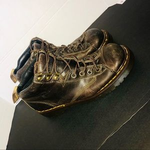 Dr Martens brown leather combat boots